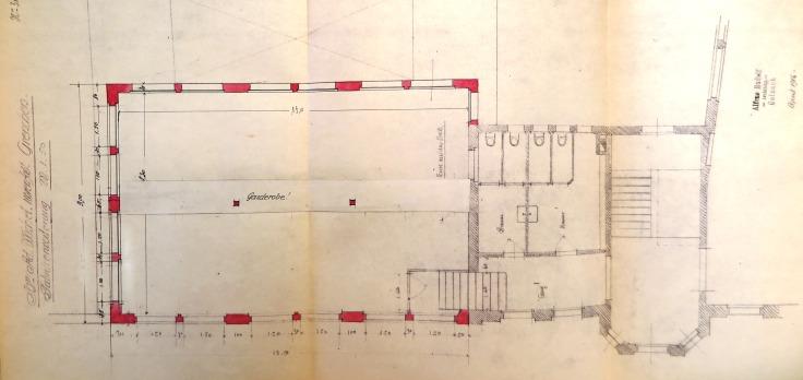 19160429 Fabrikerw Nord-West Grundriss Garderobe IMG_3768