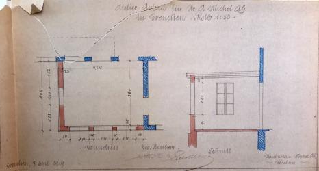19190913 Atelieranbau Plan IMG_3687