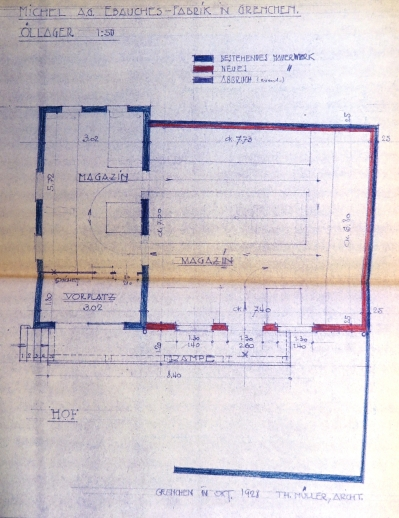 19281113 Magazinanbau Bewilligung Grundriss IMG_3670