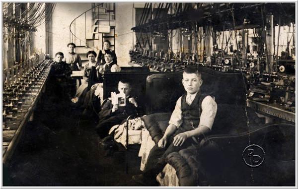 Fabrik Michel innen 1913