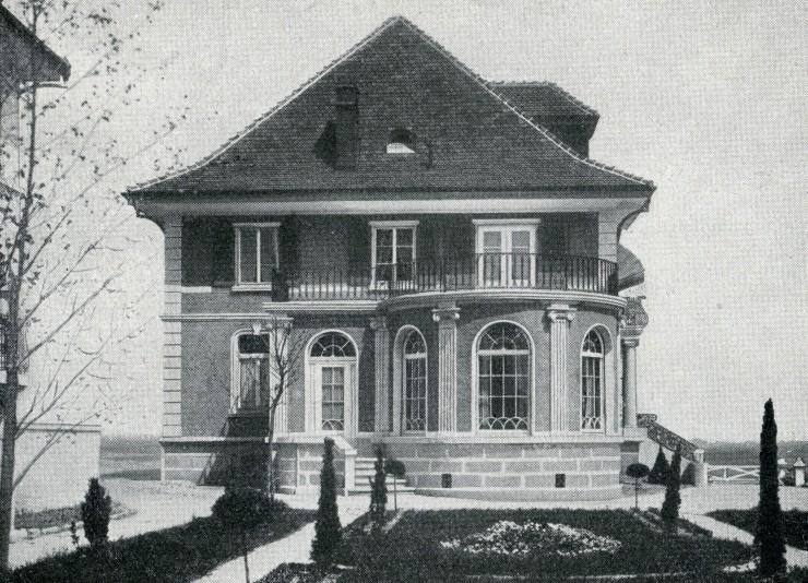 1002 Ansicht von Villa Roth her