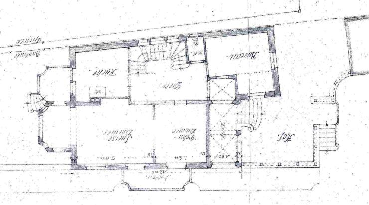 19170502 Villa Roth Grundriss EG und Umgebung 3