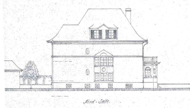 19170502 Villa Roth Neubau Nordfassade