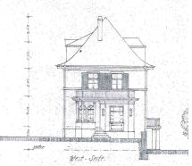 19170502 Villa Roth Neubau Westfassade