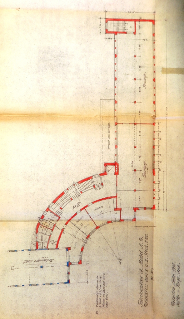 19180121 Fabrikneubau Ost Grundriss 1. St. Total IMG_3711