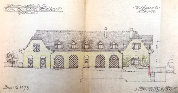 19180121 Oekonomiegebäude Westfassade IMG_3762