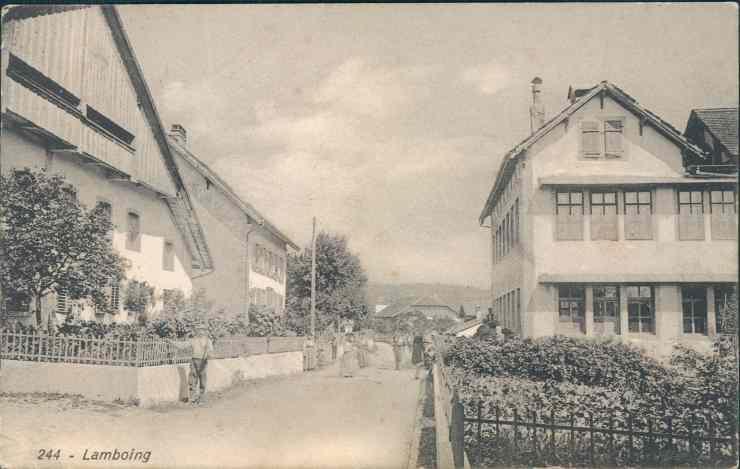 Fabrik Lamboing 1909 Karte Roth