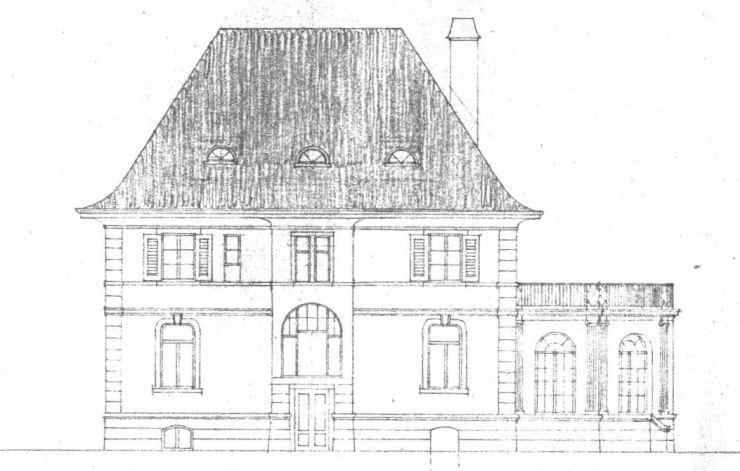 Villa Michel 2. Schritt Nordansicht