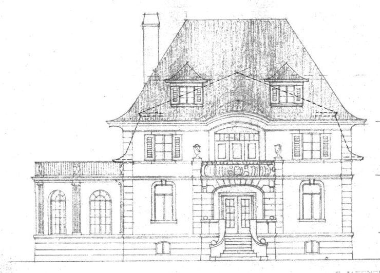 Villa Michel 2. Schritt Südansicht