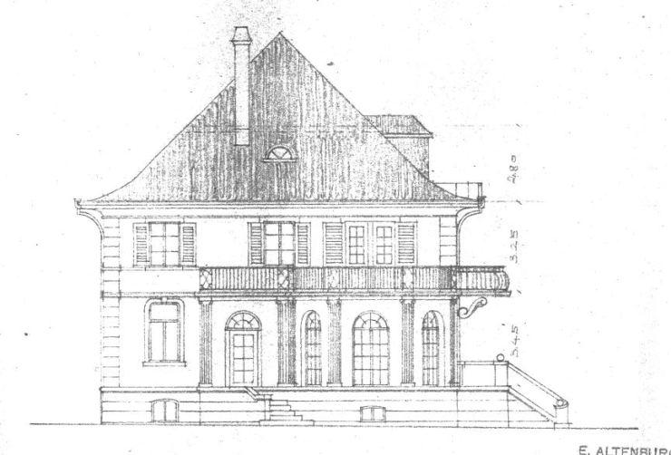 Villa Michel 2. Schritt Westansicht