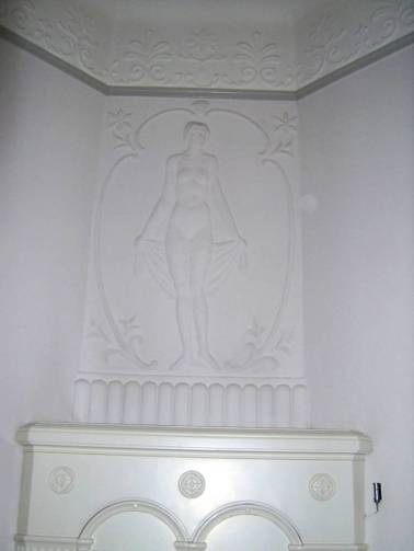 Villa Michel Skulpurschmuck im Salon