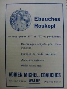 1951 100 Jahre Uhrenindustrie Grenchen Anzeige Adrien Michel P1030355