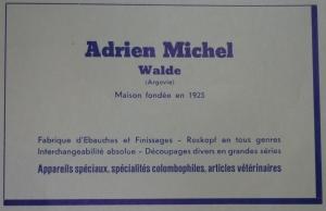 P1040548 Adrien Michel 10 Jahre Roskopfverband 1949